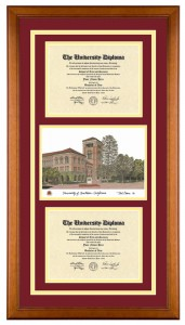 Double Diploma with Artwork USC
