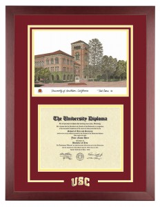 Single Diploma with Artwork USC