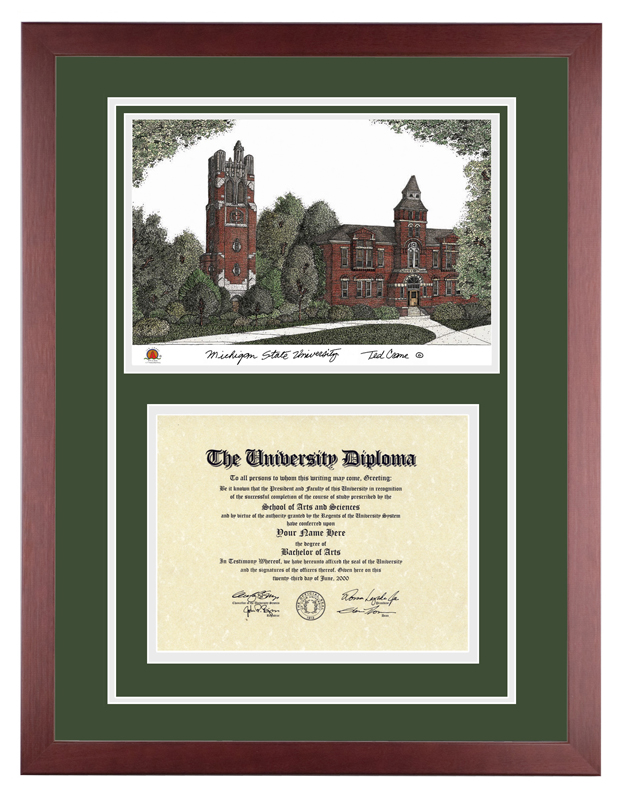 Michigan State University – MSU Spartans | Diploma Artworks